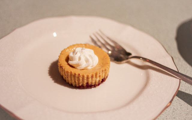 Mini Pumpkin Cheesecake with Ginger Snap Crust