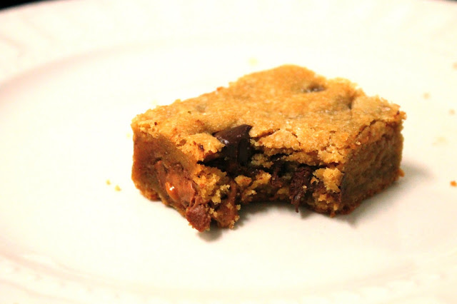 Salted Brown Butter Milky Way Chocolate Chip Cookie Bars