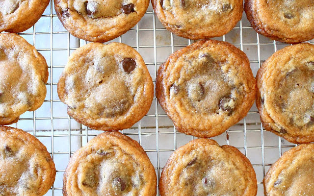 Nutella Stuffed Brown Butter Chocolate Chip Cookies