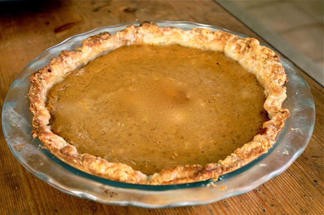 Pumpkin Pie With A Homemade All Butter Crust