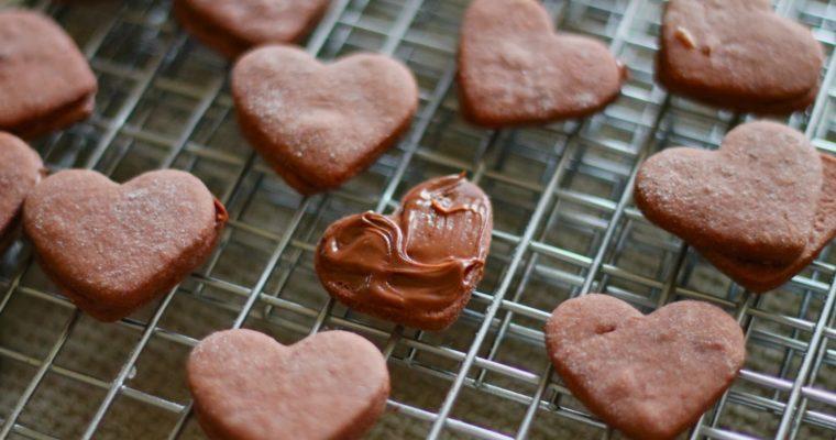 Chocolate Sugar Cookie & Nutella Sandwiches