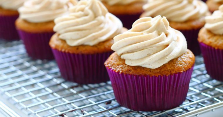 Brown Butter & Brown Sugar Cupcakes with Cookie Butter Frosting