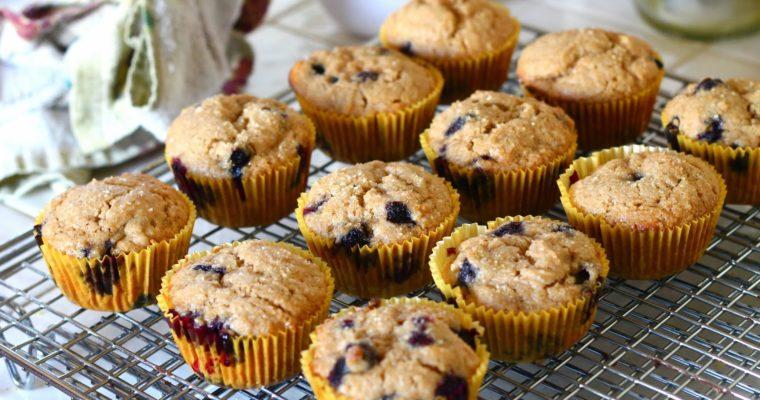 Blueberry & Lemon Brown Sugar Muffins
