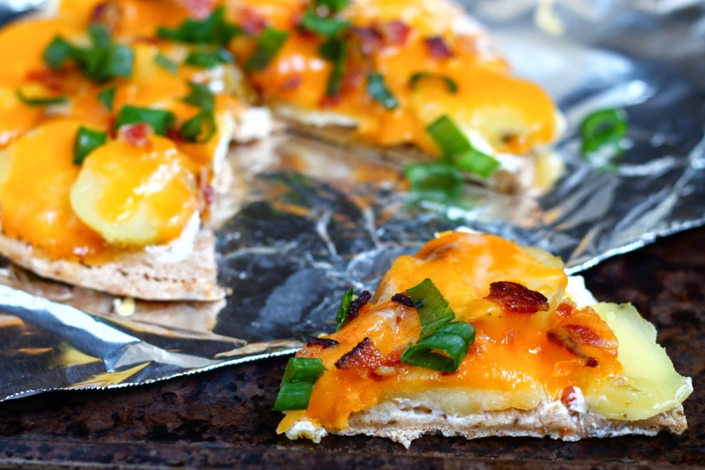 Let S Do Lunch Loaded Quot Baked Quot Potato Pita Pizza