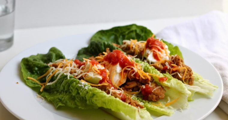 Let's Do Lunch: Turkey Taco Lettuce Wraps