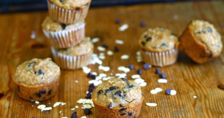 Mini Oatmeal Chocolate Chip Muffins