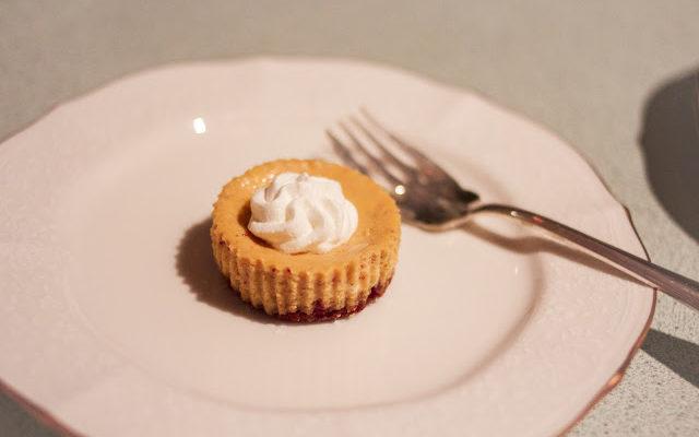 Mini Pumpkin Cheesecake with Ginger Snap Crust
