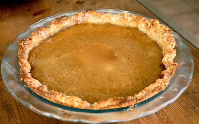 Pumpkin Pie with a Homemade All-Butter Crust