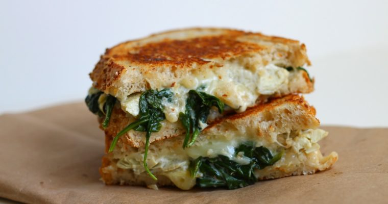 Let's Do Lunch: Spinach and Artichoke Grilled Cheese