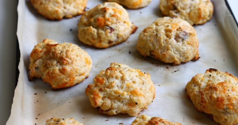 Cheddar & Bacon Buttermilk Drop Biscuits