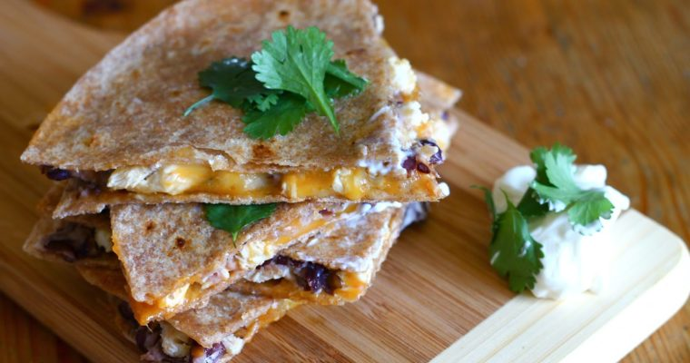 Let's Do Lunch: Black Bean & Chicken Quesadillas